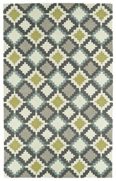 Hinton Charterhouse Hand-Tufted Ivory Area Rug by Wrought Studio