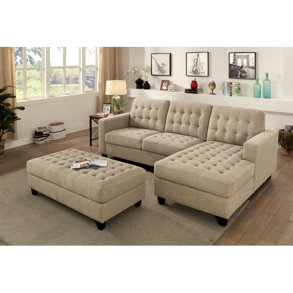 Lindaro Sleeper Sectional with Ottoman by Winston Porter