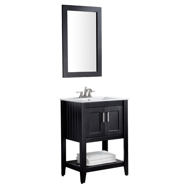 @ Elkin 24 Single Bathroom Vanity Set with Mirror by Breakwater Bay| #$0.00!