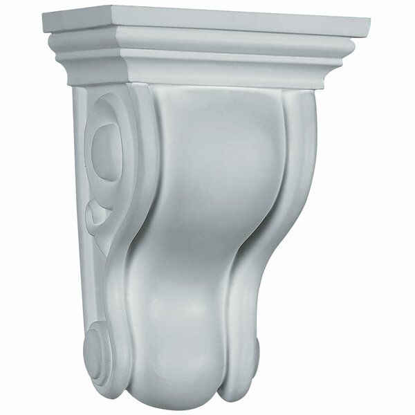 Traditional 6 3/4H x 4 3/4W x 3 1/2D Curved Corbel by Ekena Millwork