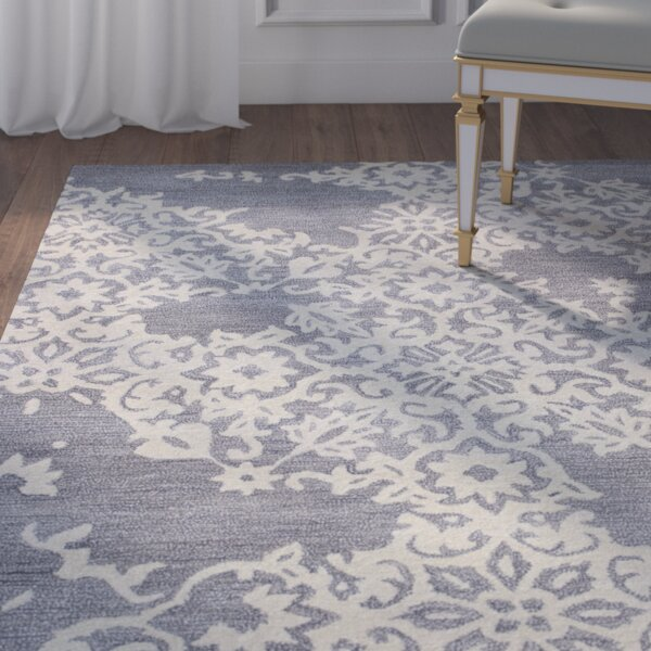 Lierre Hand-Tufted Grey Area Rug by House of Hampton