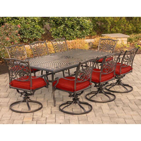 Raffaele Traditions 9 Piece Dining Set by Astoria Grand