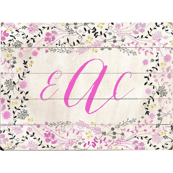 Personalized Flowers Graphic Art Print Multi-Piece Image on Wood in Pink by Artehouse LLC