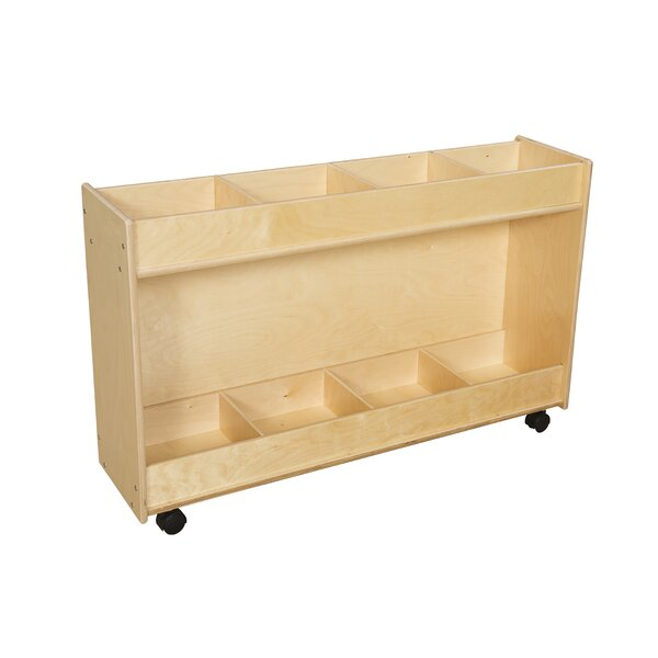 Clarendon 8 Compartment Book Display with Casters by Symple Stuff