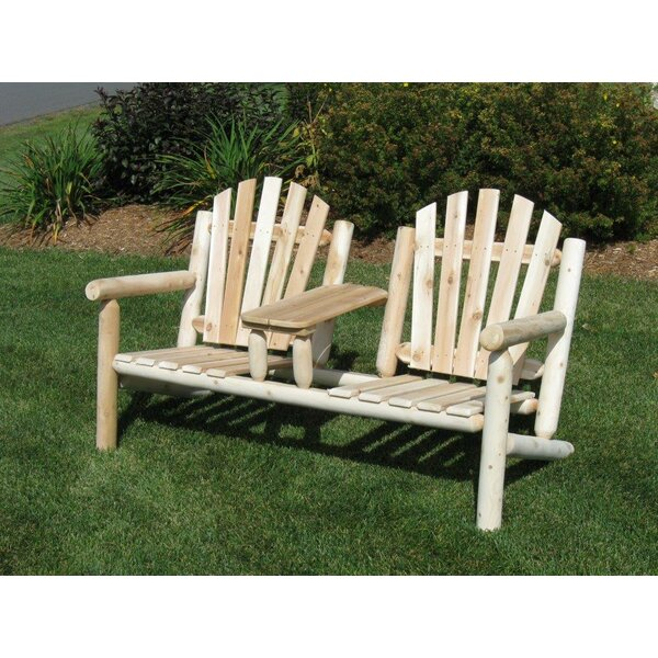 Olney Cedar Tete-a-Tete Bench by Loon Peak