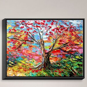 Story of the Tree 59' by Aja Ann Painting on Wrapped Framed Canvas by DiaNoche Designs