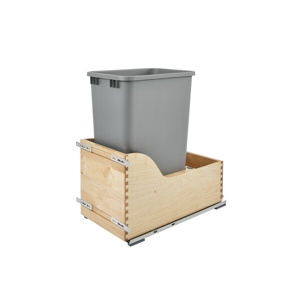 Plastic 12.5 Gallon Pul Out Trash Can by Rev-A-Shelf