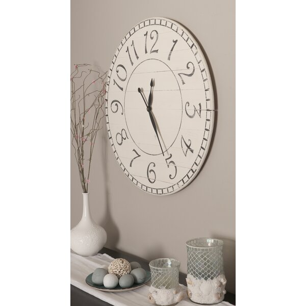 Oversized Negron Antique Farmhouse Wall Clock by Gracie Oaks