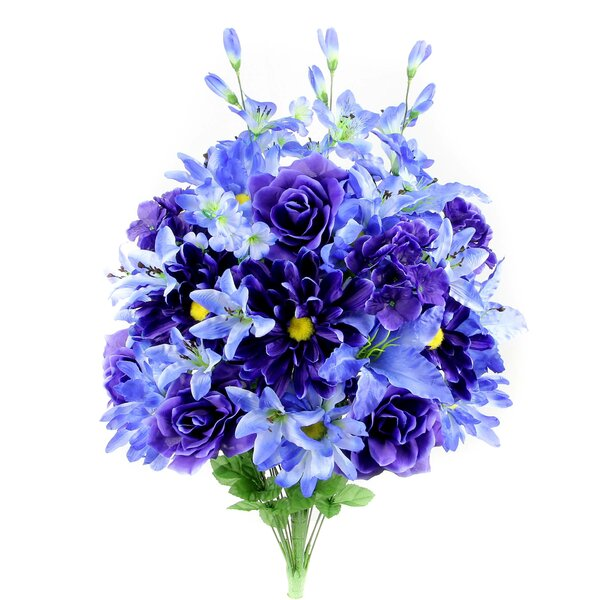 40 Stem Full Blooming Scabiosa, Rose, Lily and Hydrangea Floral Arrangement by Admired by Nature