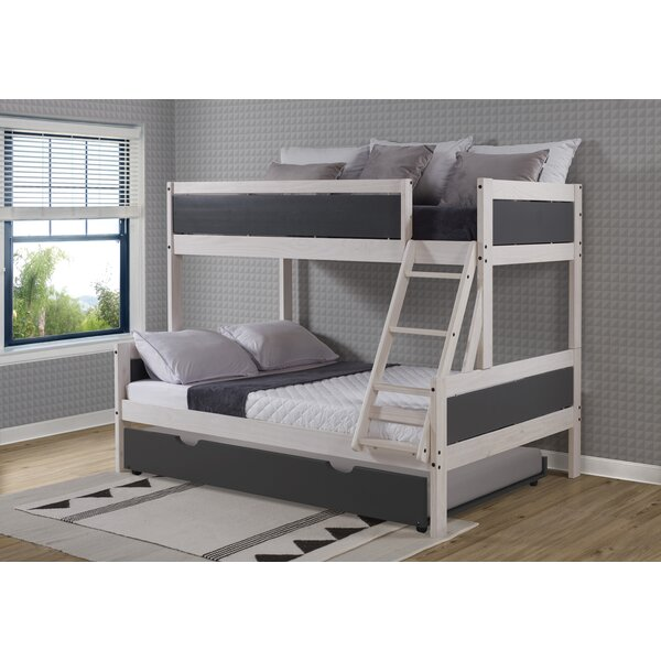Dayse Twin Standard Over Full Bed with Trundle by Harriet Bee