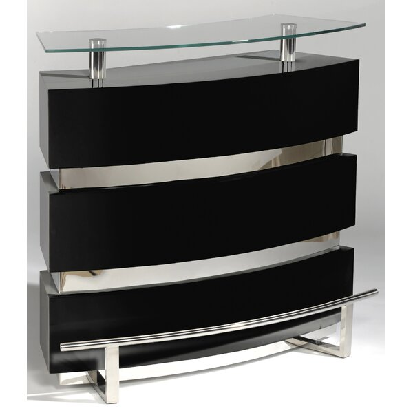 Xenia Home Bar with Wine Storage by Orren Ellis Orren Ellis