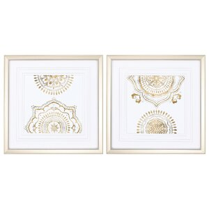 Weathered Mandala 2 Piece Framed Graphic Art Set by Propac Images