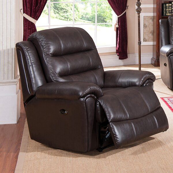 Astoria Leather Power Recliner by Amax