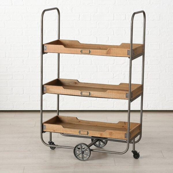 Ulrich Pipe Etagere Bookcase by 17 Stories