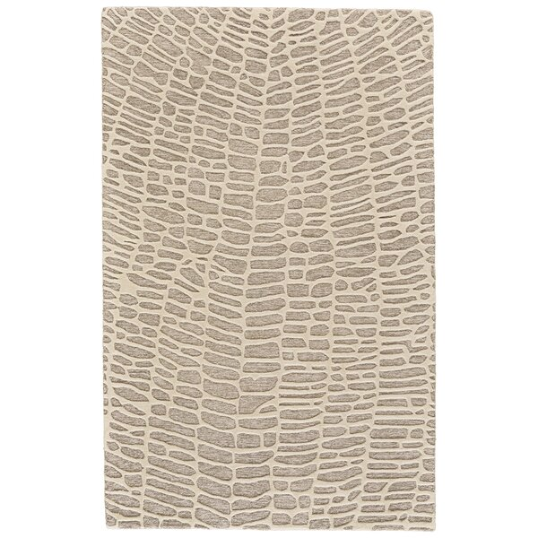 Grider Hand-Tufted Wool Ivory/Gray Area Rug by Bungalow Rose