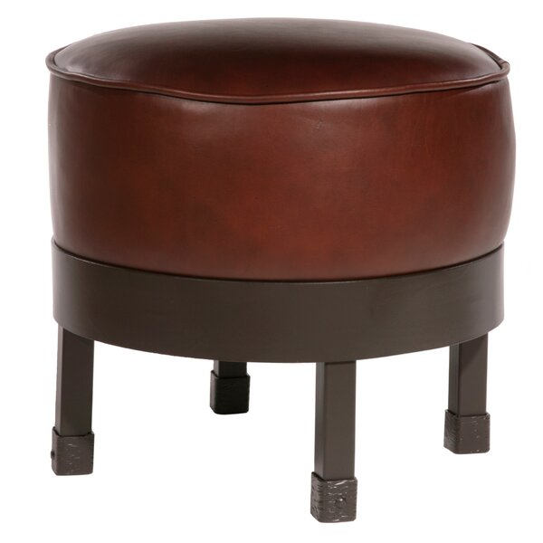Royall Leather Ottoman By Loon Peak