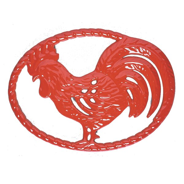 Rooster Enameled Trivet by Chasseur