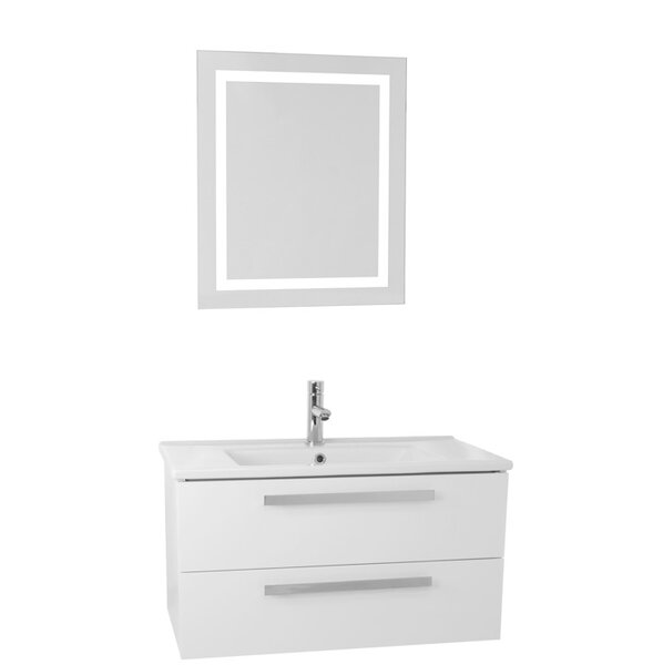 Dadila 24.4 Single Bathroom Vanity Set with Mirror by Nameeks VanitiesDadila 24.4 Single Bathroom Vanity Set with Mirror by Nameeks Vanities