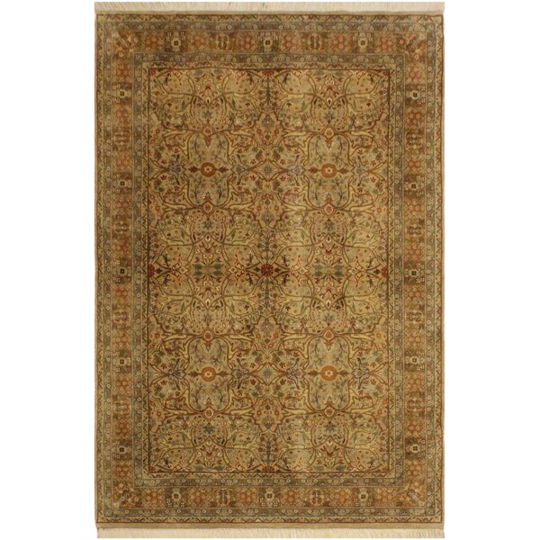One-of-a-Kind Mcdavid Tabriz Hand-Knotted Wool Tan/Brown Area Rug by Bloomsbury Market