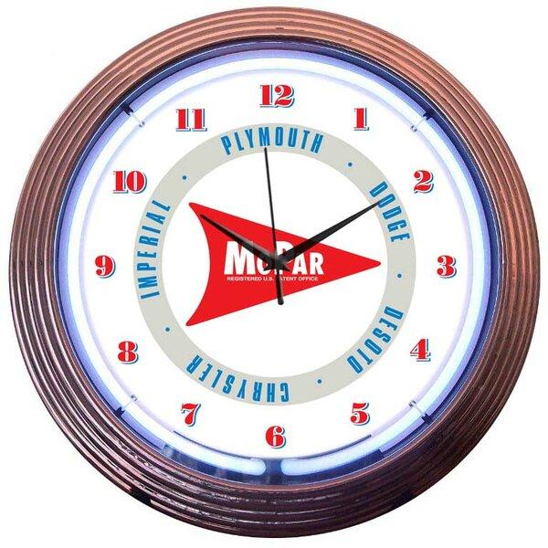 15 Mopar Arrow Wall Clock by Neonetics