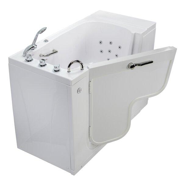 Transfer L Shape Wheelchair Accessible Hydro Massage 52 x 30 Walk-in Combination Bathtub by Ella Walk In Baths