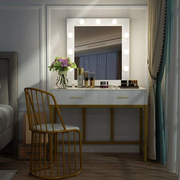 Edgington Vanity with Mirror by Mercer41 Mercer41