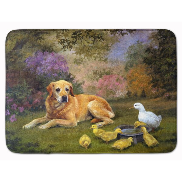 Kildare Labrador and Chicks Memory Foam Bath Rug by Red Barrel Studio