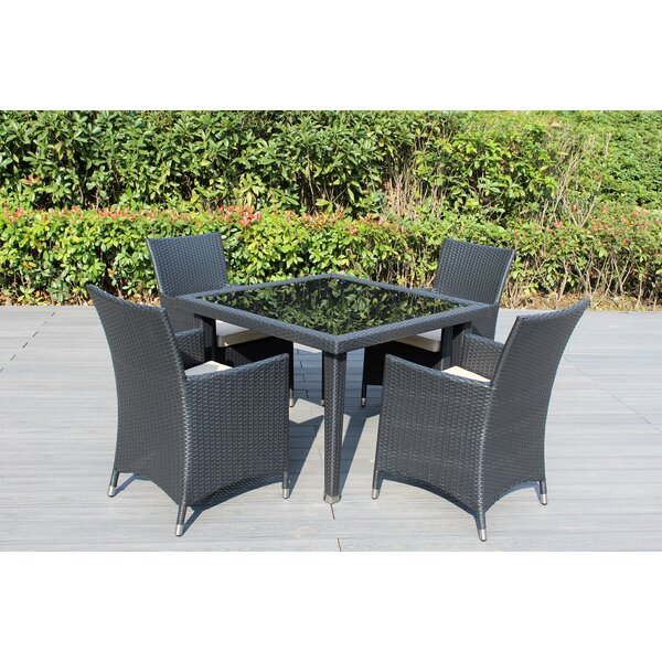 Lumini 5 Piece Dining Set with Cushions