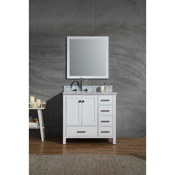 Harewood 37 Single Bathroom Vanity Set with Mirror by Andover Mills