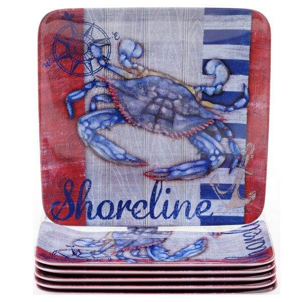 Maritime 9 Melamine Crab Salad Plate (Set of 6) by Certified International