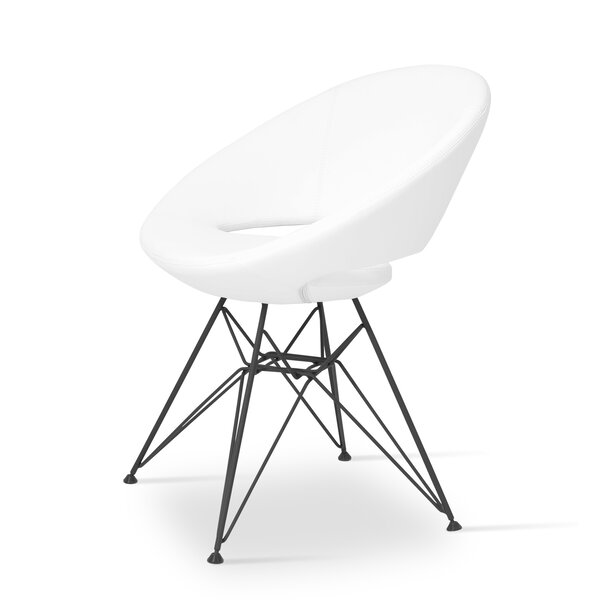 Crescent Side Chair in Leatherette - White by sohoConcept