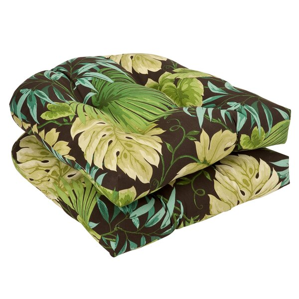 Floral Indoor/Outdoor Dining Chair Cushion (Set of 2) by Bay Isle Home