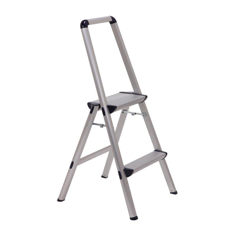 Xtend Climb 2 Step Aluminum Ultra Step Stool With 225 Lb