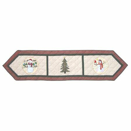 Jolly Snowmen Table Runner by Patch Magic