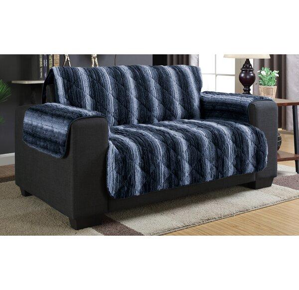 Luxury Box Cushion Loveseat Slipcover by Loon Peak