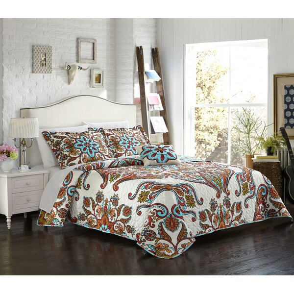 Charlesville 4 Piece Reversible Quilt Set by Latitude Run