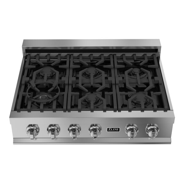 Ceramic 36 Gas Cooktop with 6 Burners by ZLINE Kitchen and Bath
