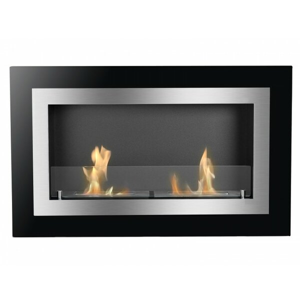 Adahy Recessed Wall Mounted Ethanol Fireplace By Orren Ellis