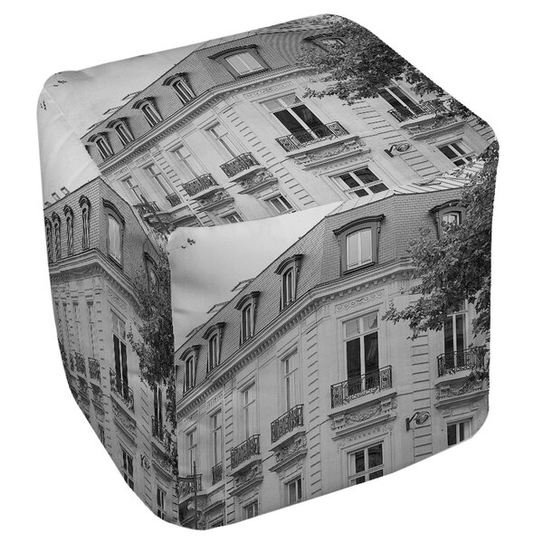 A Travers Paris Pouf by Manual Woodworkers & Weavers