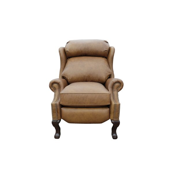 Verne Leather Manual Recliner by Canora Grey Canora Grey