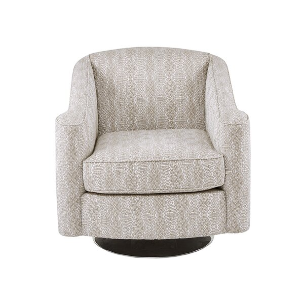 Weddington Swivel Armchair by Bungalow Rose