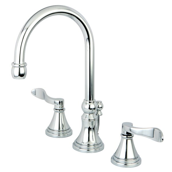 NuFrench Widespread Bathroom Faucet with Drain Assembly