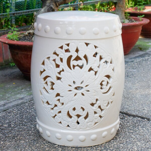 Nieto Ceramic Garden Stool by House of Hampton