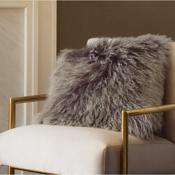 Becky Mongolian Fur Throw Pillow by Zipcode Design