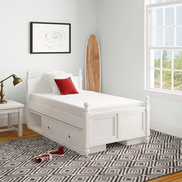 Nickelsville Twin Panel Bed with Drawers by Three Posts Baby & Kids