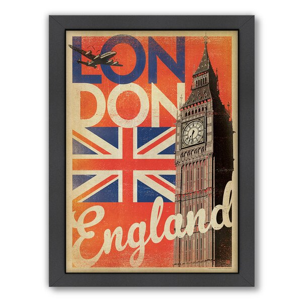 London Flag Framed Vintage Advertisement by East Urban Home