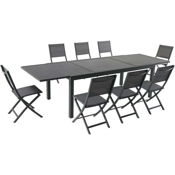 Gracie 9 Piece Dining Set by Bungalow Rose
