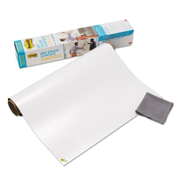 Dry Erase Surface with Adhesive Backing Wall Mounted Whiteboard by Post-it®