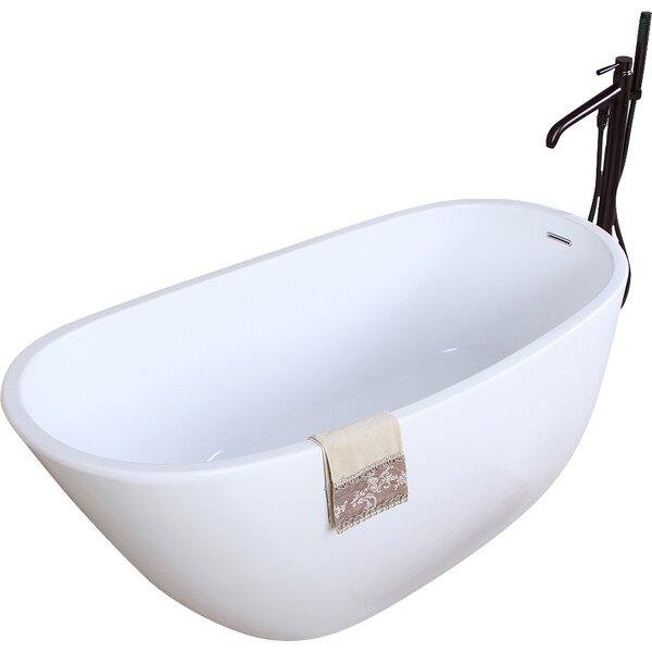 Aqua Eden 59 x 28.6 Soaking Bathtub by Kingston Brass