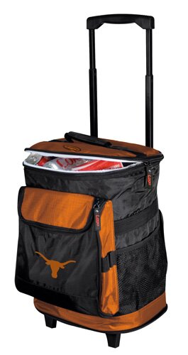 Collegiate Rolling Cooler - Texas by Logo Brands
